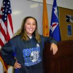 "Socorro High CAP cadet Christin Armijo loves ""falling in style"""