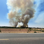 Cemetery fire in Socorro and  Valencia counties