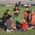 Kids play hard at flag football