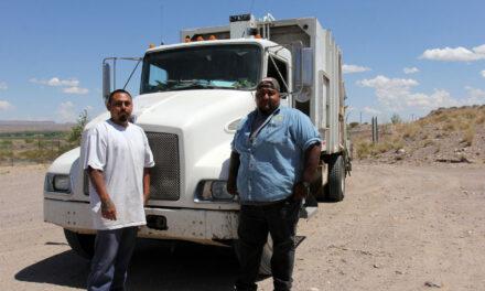 Socorro trash truck catches fire