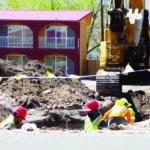 Construction on California Street